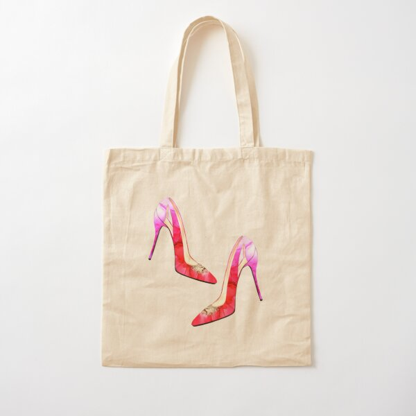 The lovely red shoe Cotton Tote Bag