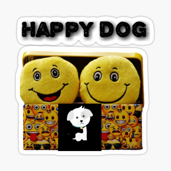 Happy dog Sticker