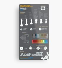 Deck Building Game Infographic Metal Print