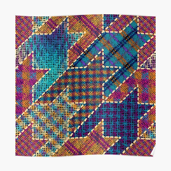 Canvas patchwork Poster