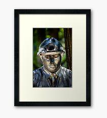 Silent man Framed Print