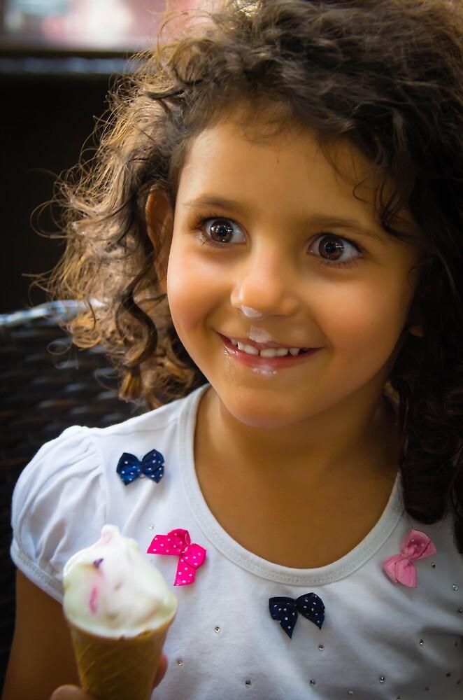 Happy Young Lady  by Sotiris Filippou