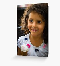 Happy Young Lady  Greeting Card