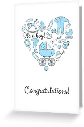 congratulations its a boy by optimistic view