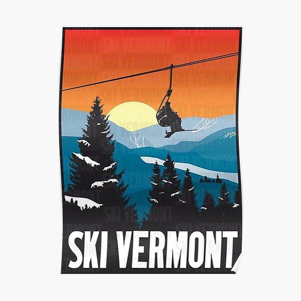 Ski sur glace Vermont Poster