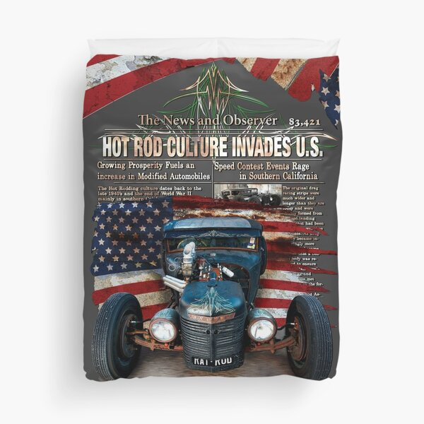 Hot Rod Invasion © Duvet Cover