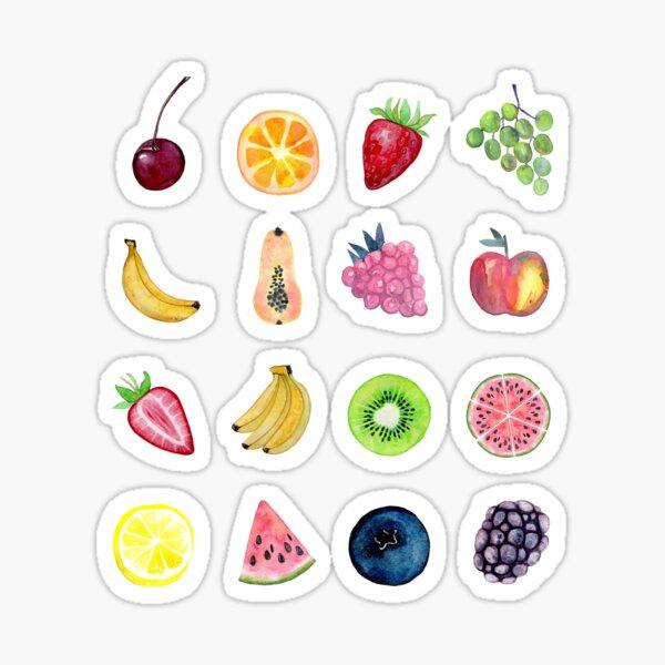 Watercolour Fruit Multi Design Set Sticker
