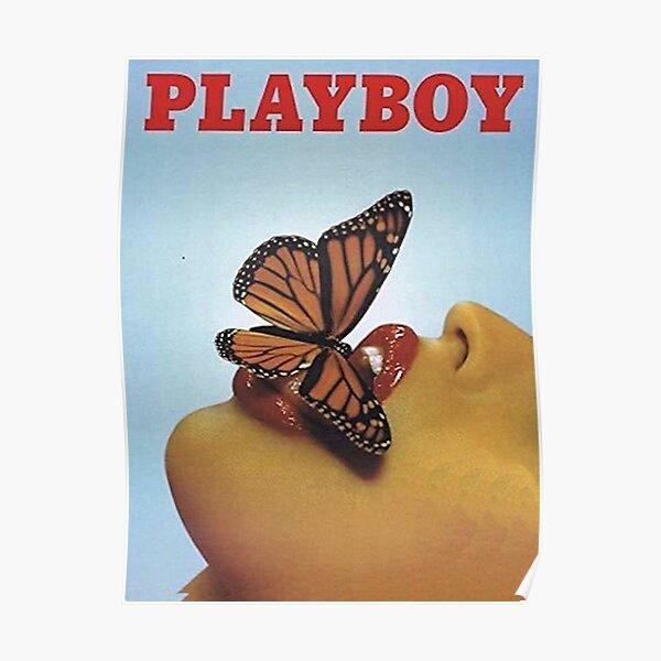 Vintage Blue Playboy  Poster