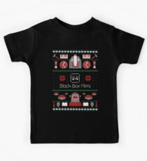 Black Box Films Christmas Sweater (Red & Green) Kids Tee