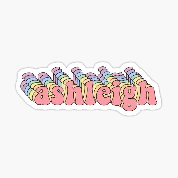 ashleigh name sticker Sticker