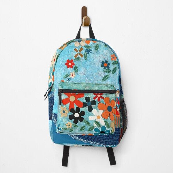 Babushka Love Floral Backpack