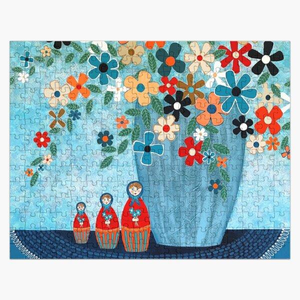 Babushka Love Floral Jigsaw Puzzle