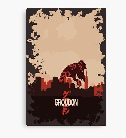 Groudonzilla Canvas Print