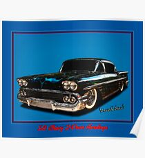 58 Chevy 2-Door Hardtop Poster