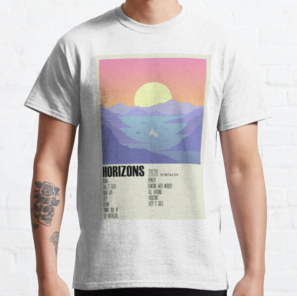 Horizons Surfaces Album Cover Alternative Poster Minimalist Art Classic T-Shirt