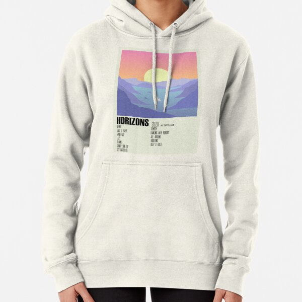 Horizons Surfaces Album Cover Alternative Poster Minimalist Art Pullover Hoodie