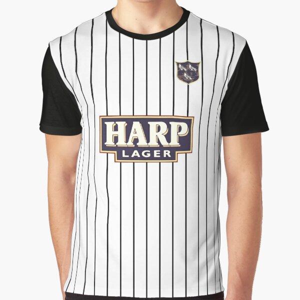 Dundalk Football Club 'In Black And White' Retro 1987-88 Home Shirt Graphic T-Shirt