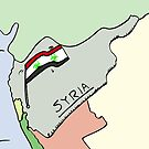 Biohazard Syrian flag caricature by Binary-Options