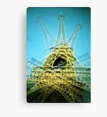 Eiffel Tower is Falling Down - Lomo Canvas Print