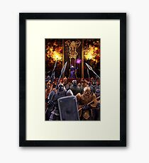 The Girl and the Robot - The Queen and her Army Framed Print