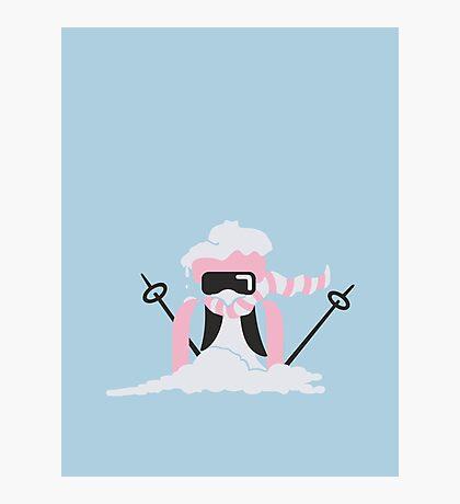 Ski Penguin VRS2 Photographic Print