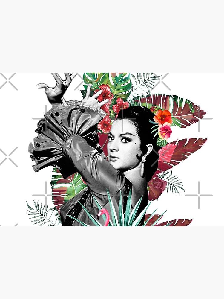 Mascarilla Lola Flores con Flamenco Rosa de danimota