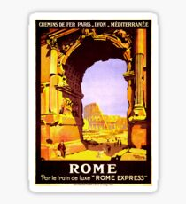 Vintage Ruins of Rome Italy Travel Sticker