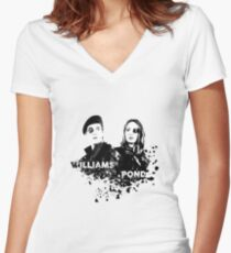 Amy Pond & Rory Williams Women's Fitted V-Neck T-Shirt