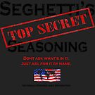 Seghetti's Top Secret Seasoning Merchandise by Fred Seghetti