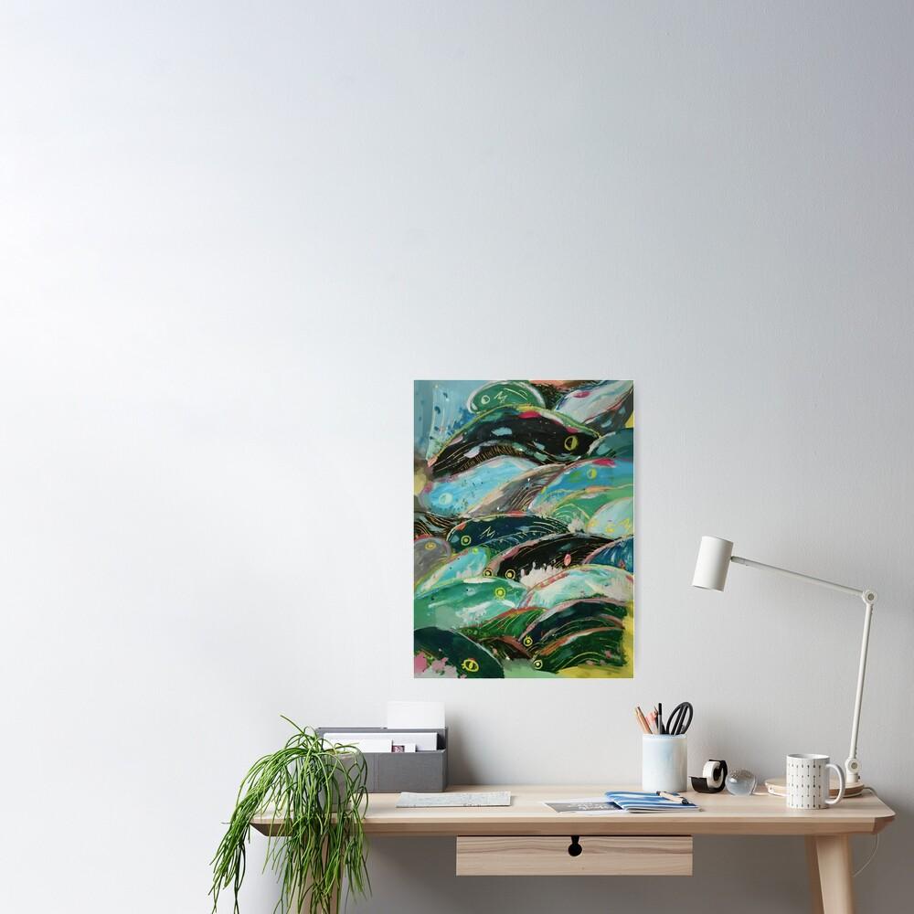 Ponyo's waves Poster