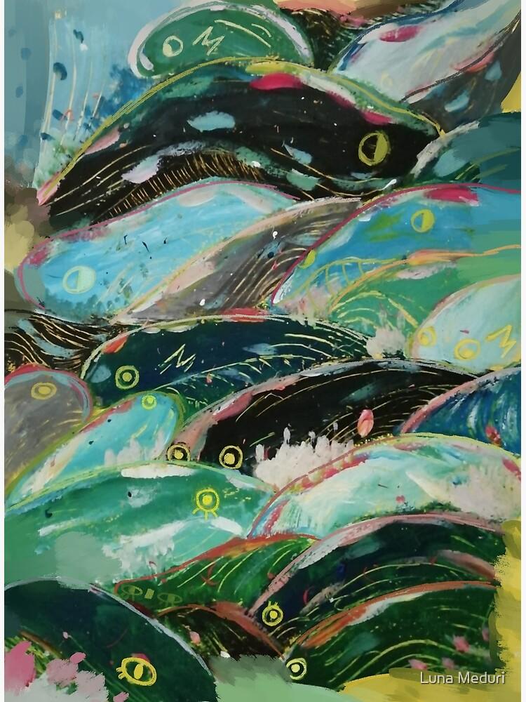 Ponyo's waves by Lunrii