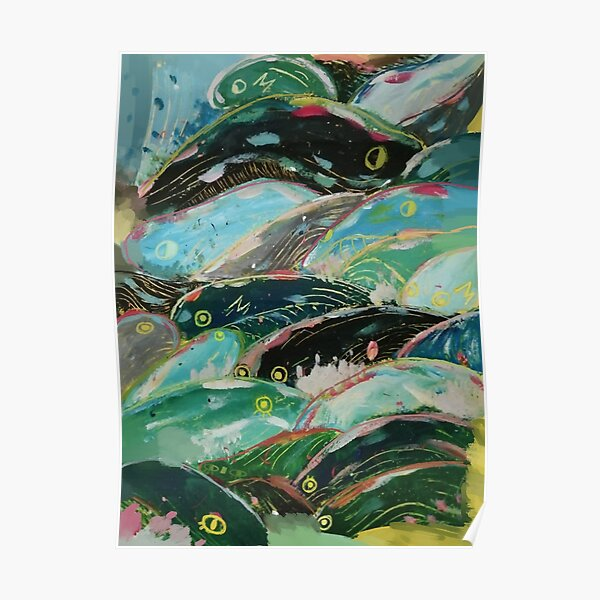 Les vagues de Ponyo Poster