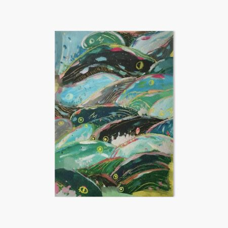 Ponyo's waves Art Board Print