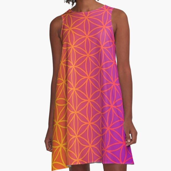 Gradient flower of life pattern A-Line Dress