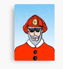Fireman Santa Canvas Print