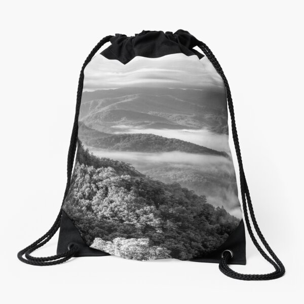 Smoky Mountain Sunrise Drawstring Bag