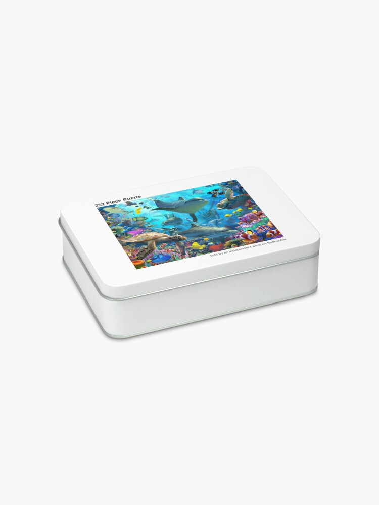 Alternate view of Dolphin Playground Jigsaw Puzzle