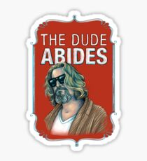 BIG LEBOWSKI-The Dude- Abides Sticker