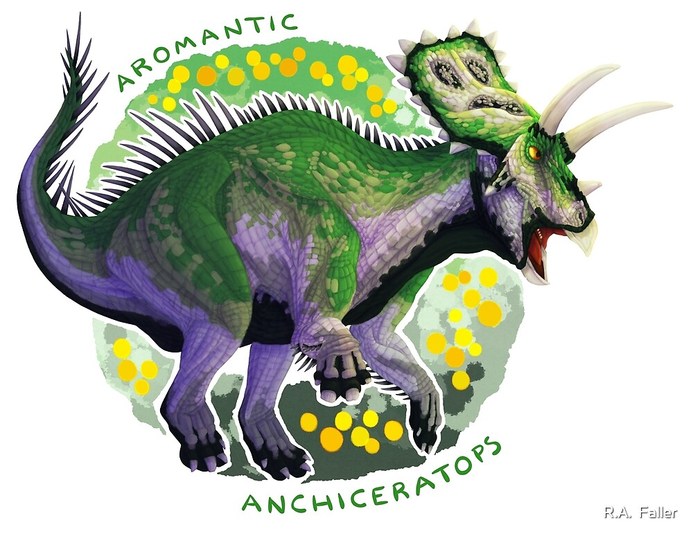 Aromantic Anchiceratops (with text)  by R.A.  Faller