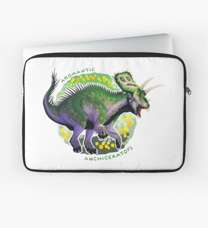 Aromantic Anchiceratops (with text)  Laptop Sleeve