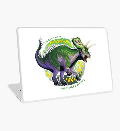 Aromantic Anchiceratops (with text)  Laptop Skin