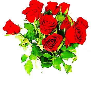 Roses by scarletknife