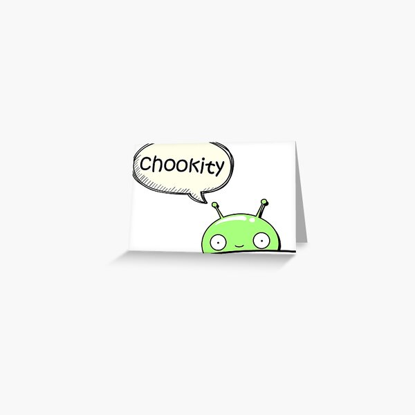 chookity pocket Greeting Card