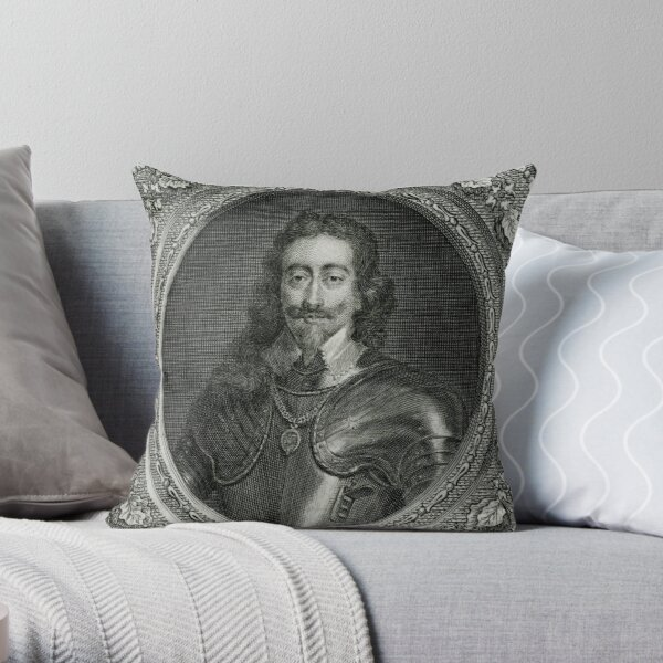 King Charles I of England executed 1649 Throw Pillow