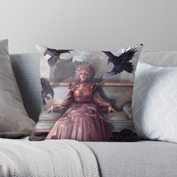 Queen of crows Throw Pillow