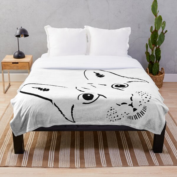 Scribble Cat is not Judging You Throw Blanket