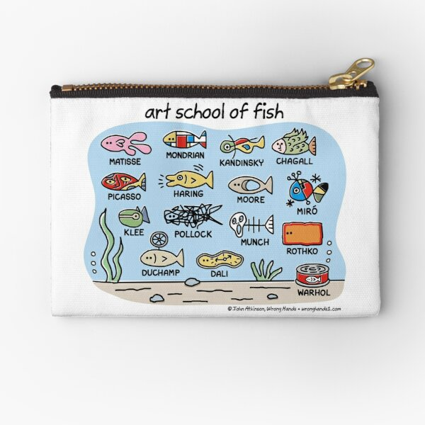 art school of fish Zipper Pouch