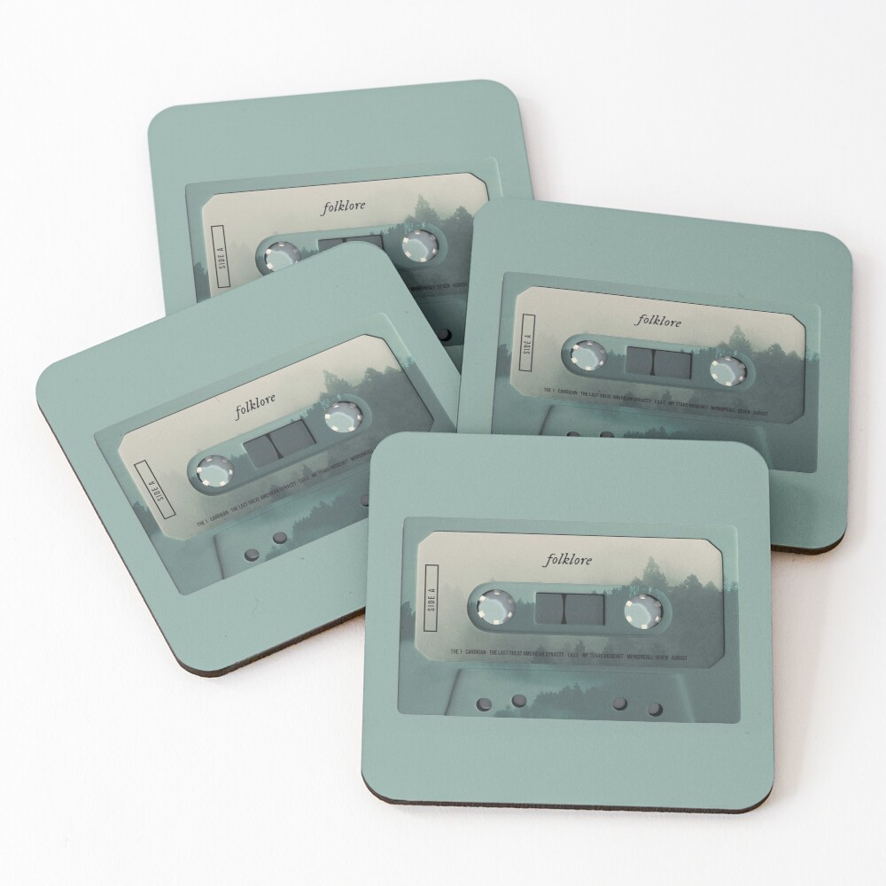Folklore Cassette Coasters (Set of 4)