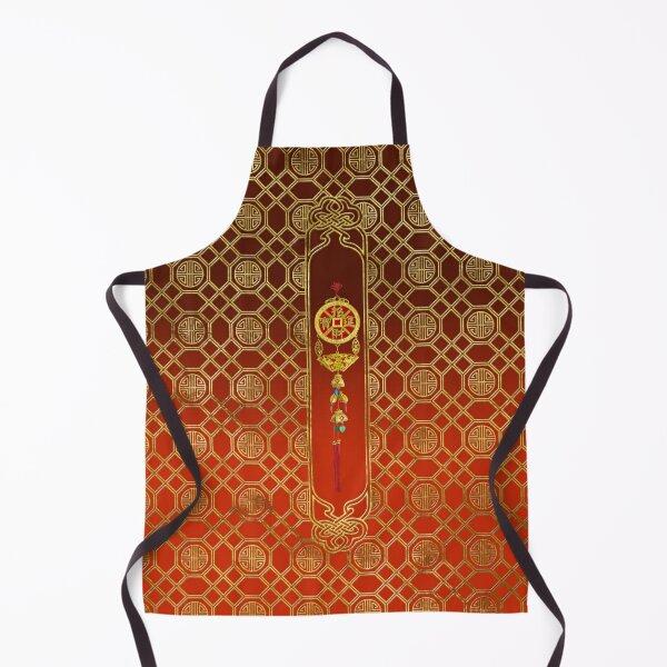 Chinese Good Luck Symbol Tasssel - Feng shui Apron