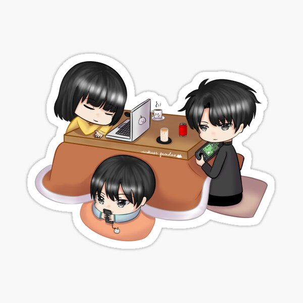 Chilling under a kotatsu Sticker